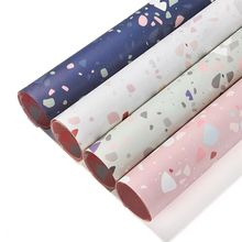Fantasy Terrazo Gift wrapping paper 10pcs/lot 60*60cm  Flower Packaging Paper Book Cover Material DIY crafts supplies