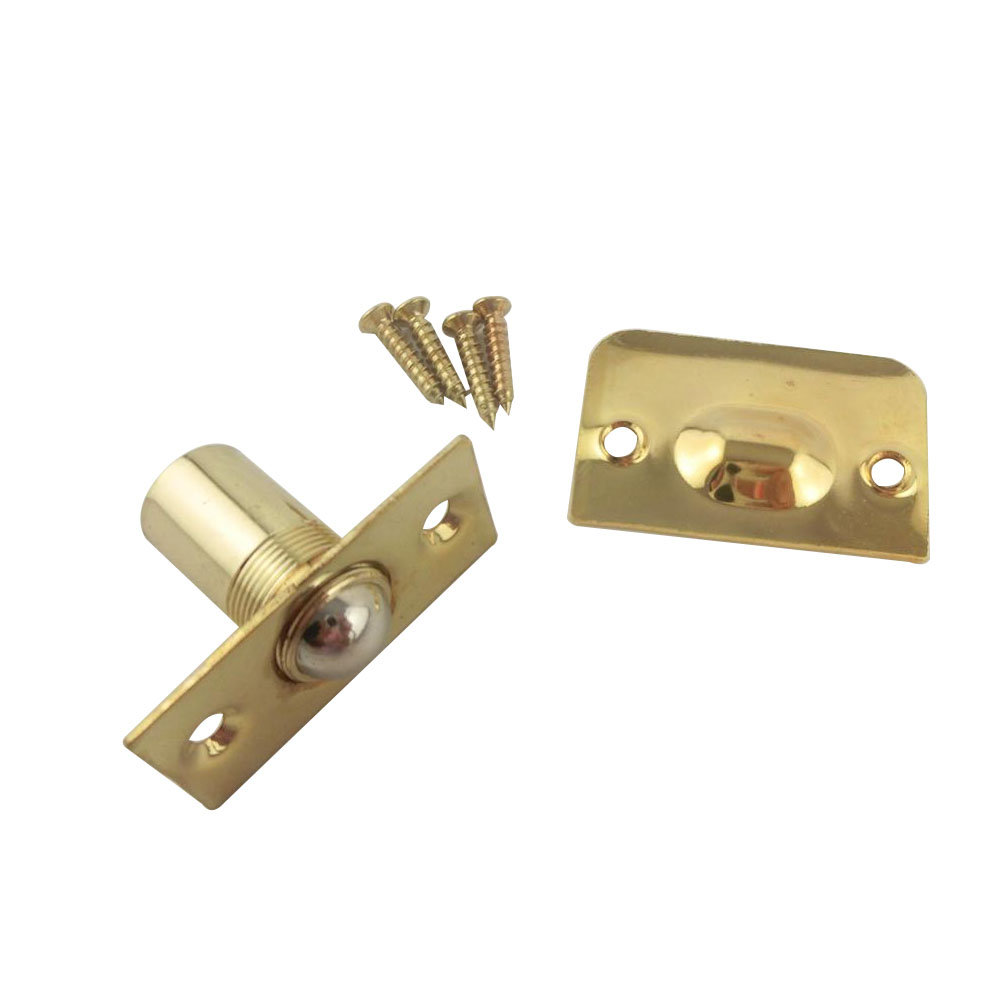 2pcs Magnetic Brass Door Catches Holder Latch Closer 54x26x32mm Door Stopper With Spring Kitchen Cabinet Door
