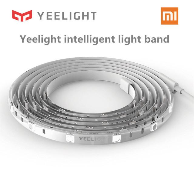 Original xiaomi yeelight rgb banda de luz de casa inteligente aplicación de teléfono inteligente wifi luz de tira Colorida de cordero LED 2 M 16 Millones 60 Led