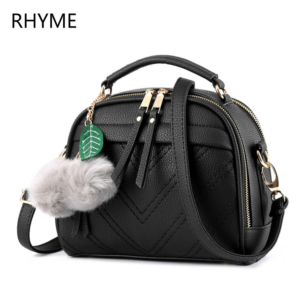 ФОТО Rhyme New Fashion Leather Bag Ladies Tote Shoulder Bag Handbags Women Famous Brands Bag PU  Square Package