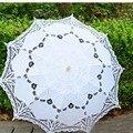 Frete Grátis Lace Abertura Manual Acessórios de Casamento Nupcial Umbrella Parasol Umbrella Para Nupcial Do Casamento Do Chuveiro Guarda-chuva