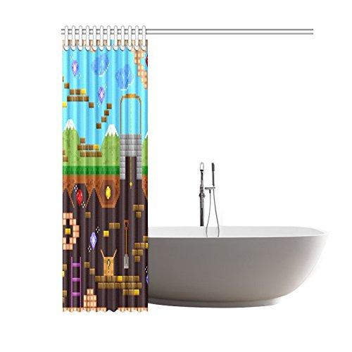 NANAZ Custom Retro Style Bit Video Game Bathroom Waterproof Fabric Shower  Curtain In Shower Curtains From Home U0026 Garden On Aliexpress.com   Alibaba  Group