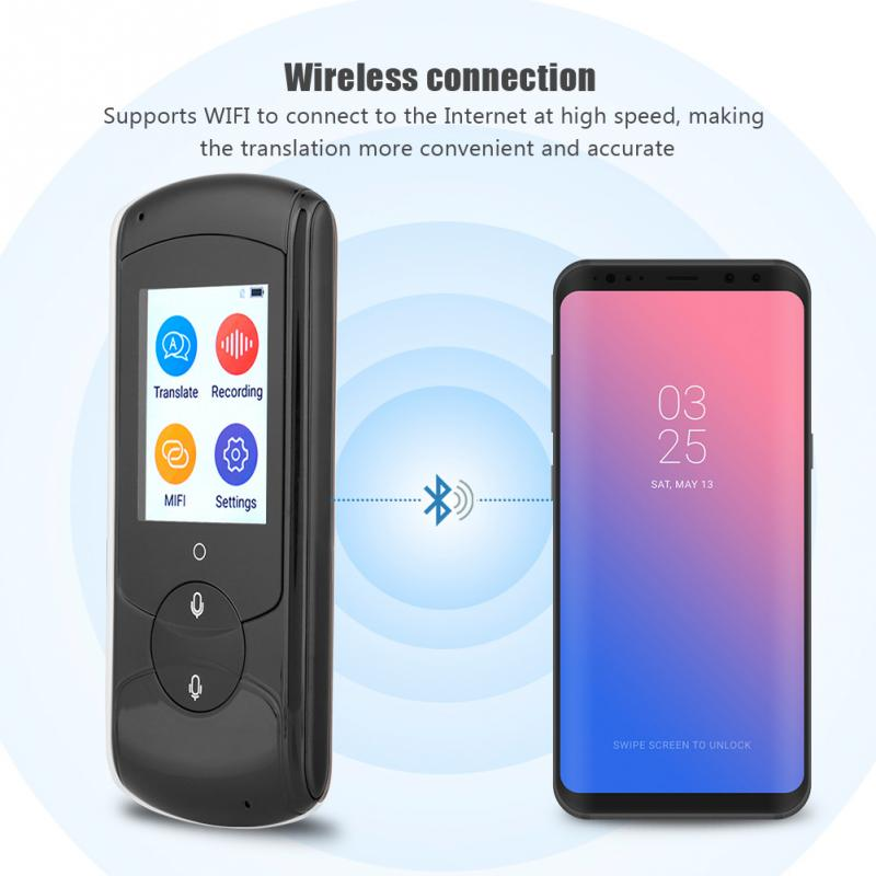Translator WIFI For Meeting Study Trarvel 41 Multilingual Languages Smart-Voice Portable