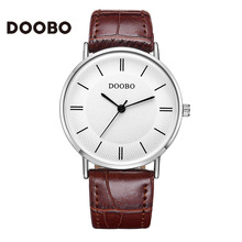 2016 Super Slim DOOBO Casual Men Watch Brand Quartz Wristwatch Business Analog Quartz-Watch Luxury Men Relogio Masculino