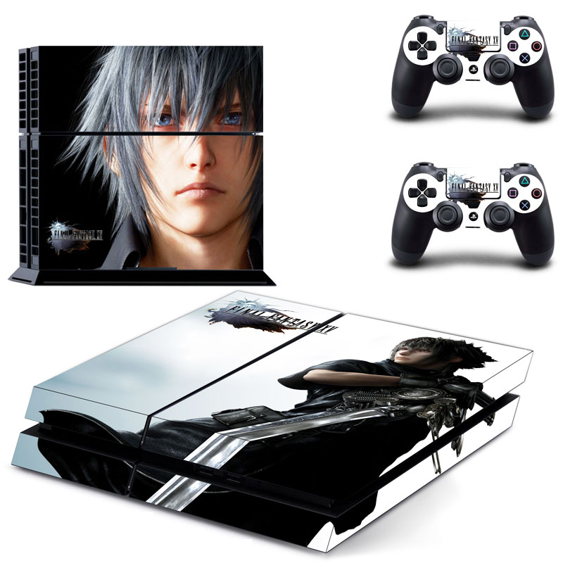 Kingsglaive Final Fantasy XV Decal Skin Stickers For Sony Playstation 4 Console + 2 Pcs Stickers For PS4 Controller