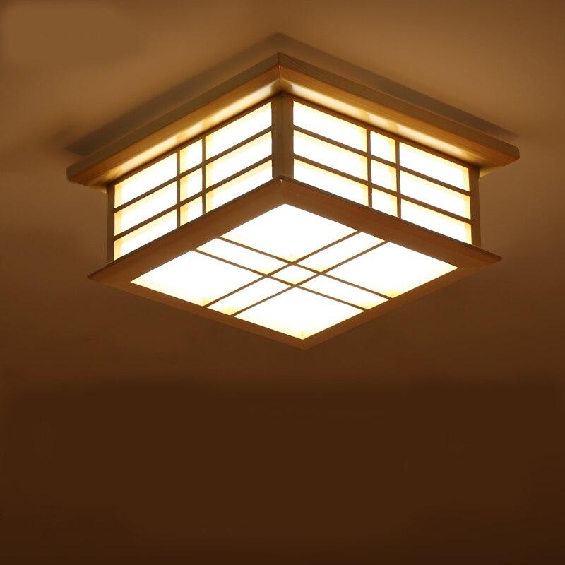 Stile giapponese Mestieri Delicati led Cornice In Legno luminarias para sala Luce di Soffitto luci di soffitto del led dimming ha condotto la lampada del soffitto