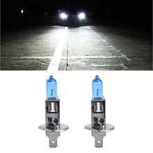 цены 1 Pair Car Headlight H1 Lamp Super White Car Halogen Bulb 100W Fog Light DC 12V