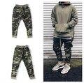 Temor de dios hombres pantalones de camuflaje verde del ejército cremallera lateral joggers hombres hip hop justin bieber pantalones tácticos militares