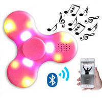 NEW LED Hand Spinner Music USB Finger Spinners With Bluetooth Speaker EDC Hand Spinner Decompression Toys