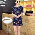 20 colors New autumn winter 2016 Fashion Women long sleeve Dresses mini Dress Loose girl casual tops printed cotton wool
