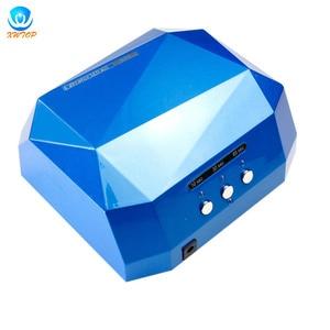 Image 1 - 36W LED CCFL UV tırnak kurutucu elmas şekli kür lambası makinesi için UV jel oje