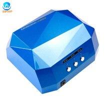 36W LED CCFL suszarka UV do paznokci diamentowy kształt lampa utwardzająca maszyna do żelowy lakier do paznokci UV