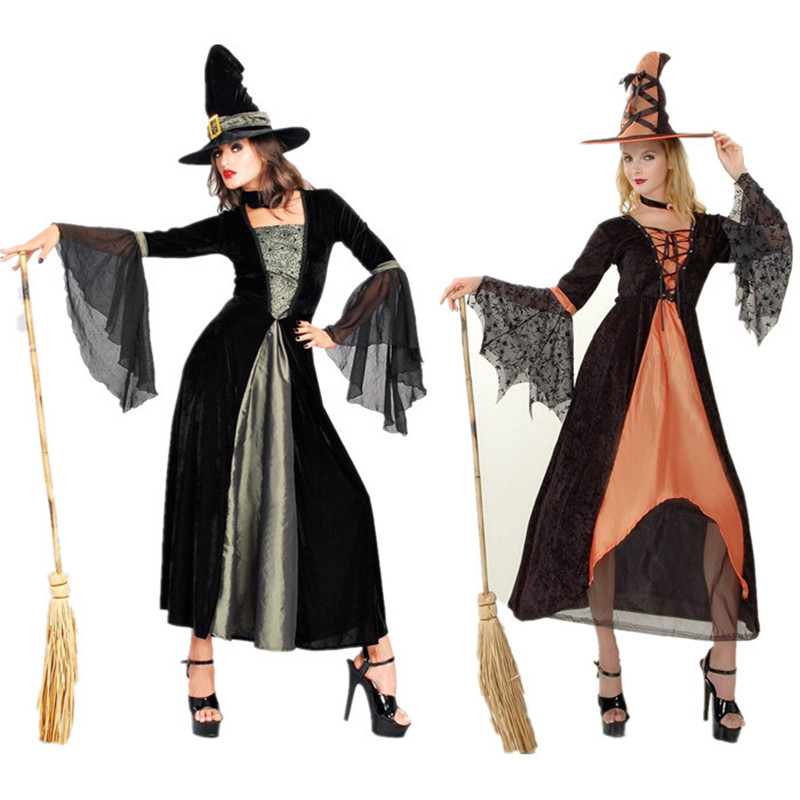 female witch long sleeve double color costume role playing Halloween party costumes cosplay stage performance women clothes on Aliexpress.com | Alibaba ...  sc 1 st  AliExpress.com & female witch long sleeve double color costume role playing Halloween ...