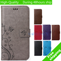 Pattern Leather Phone Case For Huawei Ascend P8 Lite P8 Mini TPU Back Cover Flip Shell Stand Wallet Bag Card Holder