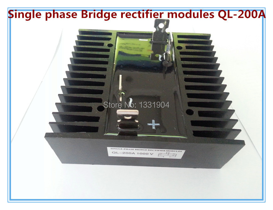 free shipping New single Phase Diode Bridge Rectifier QL 200A  1000V modules brand new authentic mds100f 24 ling 100a 2400v made four three phase rectifier diode modules