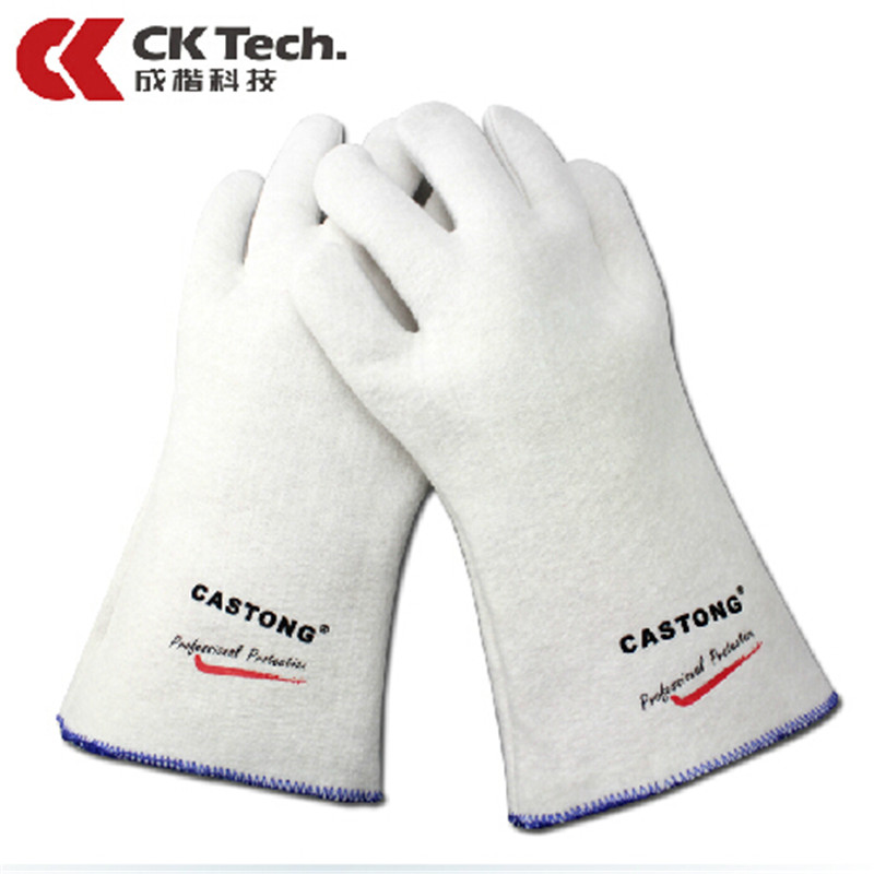 CK Tech Brand Heat Proof  Work Safety Gloves Cooking Tools Bakeware Tricot Oven Glove Resistant 180 Degree Microvave Gloves35-33