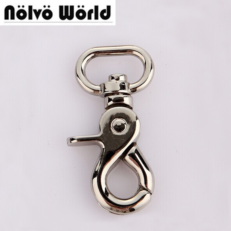 20X57mm(3/4 inside) Silver Metal Swivel Lobster Clasps Clips Dog Leash Swivel Hook Snaphook Cord Hook Buckle Trigger Clips Snap