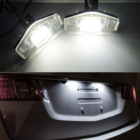2x LED License Plate Lights For Honda Civic Accord City Legend CR V Odyssey Acura MDX