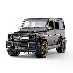 1:24 литая под давлением игрушечная модель автомобиля металлические игрушки колеса автомобиля G65 высокое моделирование звук и светильник вы...