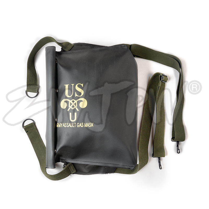 Back To Search Resultssports & Entertainment Ww2 Wwii Us Army Normandy D-day M5 M7 Gas Mask Bag Pack Carrier Repro Black