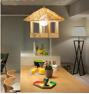 house lamp pendant lamp NEW 2017 FREE SHIPPING 3PCS Rattan pendant light rustic lamps rattan lamp single cage lights small  ZCL bamboo rattan pendant light rustic lamps rattan lamp single cage lights small house lamp pendant lamp zb24