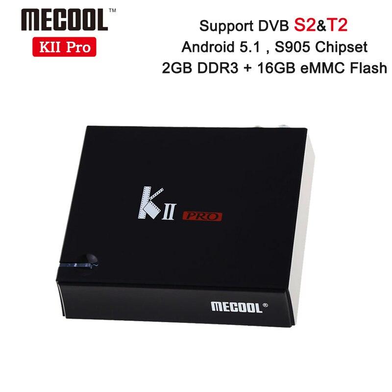 Prix pour KII Pro DVB-T2 + DVB-S2 Android 5.1 TV Box 2 GB/16 GB Amlogic S905 Quad-core 4 K * 2 K 2.4G & 5G Double Wifi Bluetooth KIIpro Set Top boîte