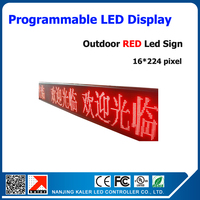16*224 pixels P10mm 1/4 scan Outdoor LED Sign Programmable Scrolling Waterproof Message Display Board Running Text LED Sign