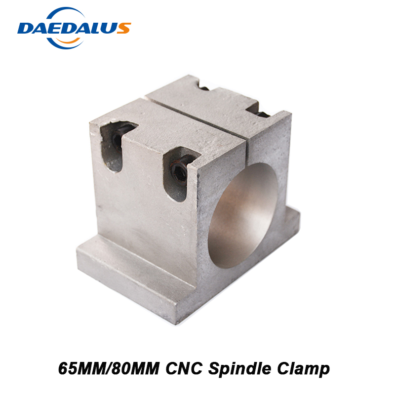 CNC Spindle Clamp Mounting Bracket 65MM Clamping Mount 80MM Bracket For Spindle Motor 800W 1.5KW 2.2KW Router Machine