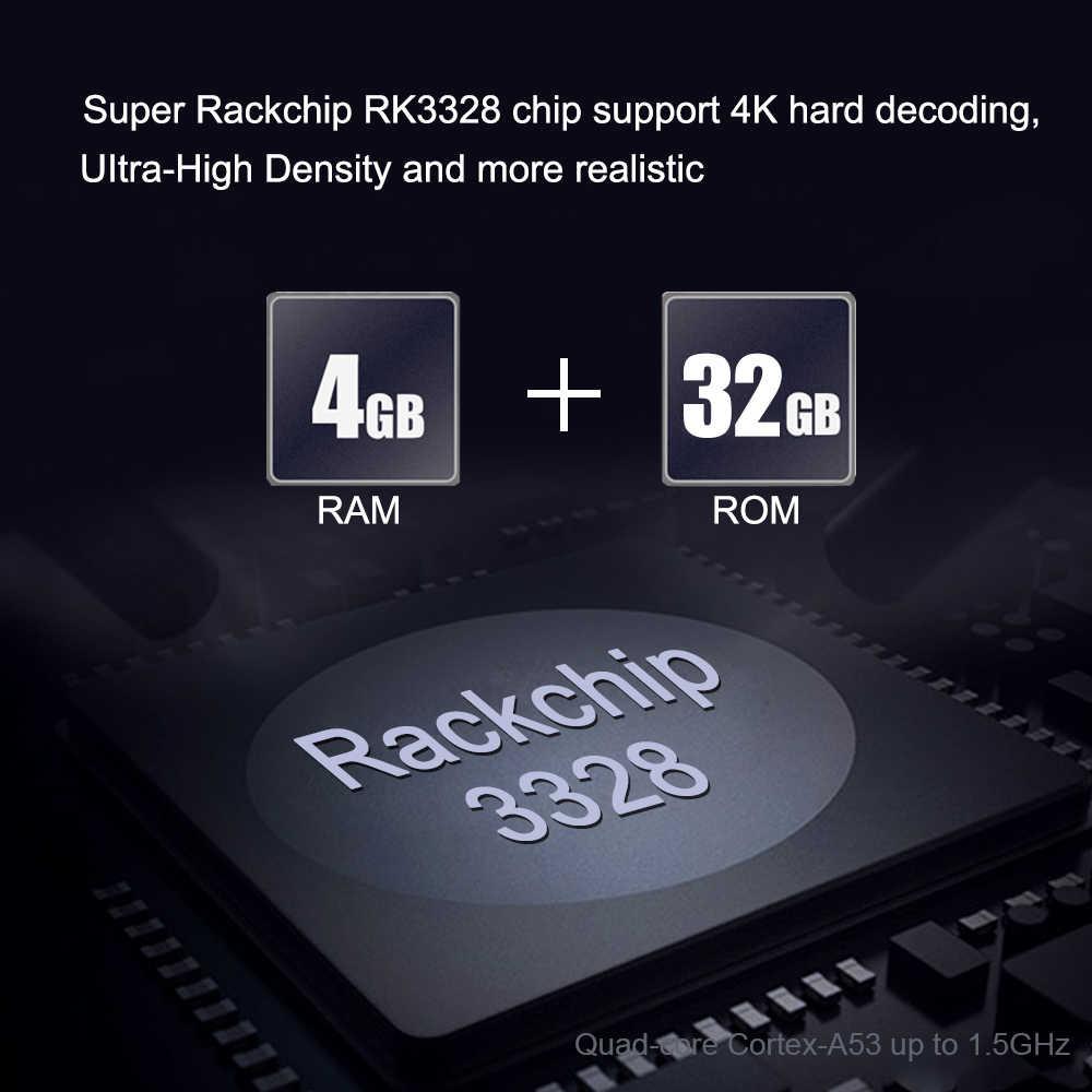 2019 Android 9 0 TV Box A5X MAX 4GB RAM 32GB ROM RK3328 Quad Core BT4 0  2 4G WiFi HD Set Top Box DLNA Airplay Media Player