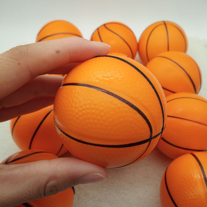 Anti Stress Ball Toy Relief Basketball Soft Foam Rubber squeeze Ball Funny Toys for Chrildren 12pcs 6.3cm ...