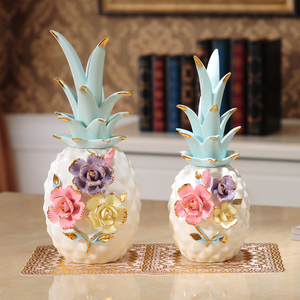 Белый керамический ананас миниатюрные фигурки, растения, фрукты, бромель, аксессуары для украшения дома, искусство и ремесла, свадебные под...