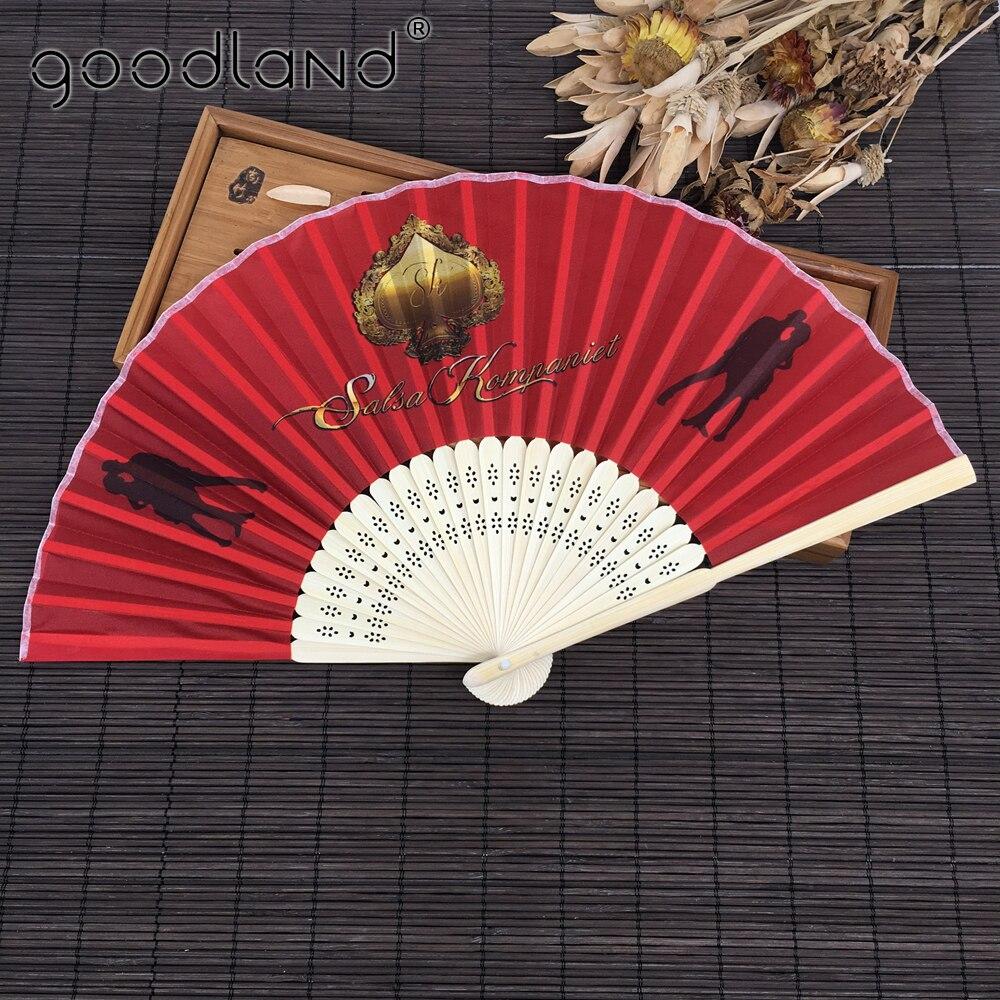 도매 무료 배송 50 개/몫 인쇄 새로운 저렴한 대나무 공예 포켓 팬 중국어 핸드 팬 결혼식 호의 및 선물-에서장식용 팬부터 홈 & 가든 의  그룹 1