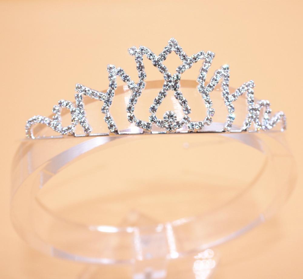 Fashion Girls Princess Hairband Child Party Bridal Crown Headband Crystal Diamond Tiara Hair Hoop Hair bands Accessories