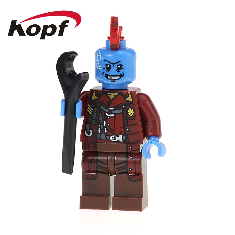 50Pcs XH 605 Super Heroes Yondu Guardians of the Galaxy Rocket Racoon Gamora Ayesha Building Blocks Action Gift Toys Children