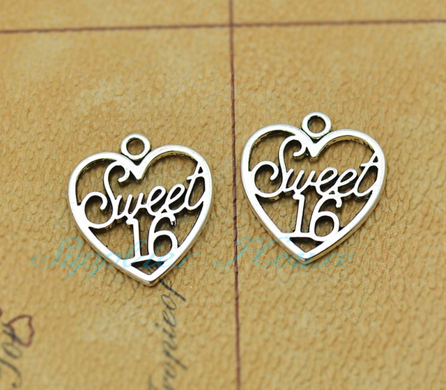 40pcs sweet 16 charmsantique silver sweet 16 charm16 years old 40pcs sweet 16 charmsantique silver sweet 16 charm16 years old mozeypictures Gallery
