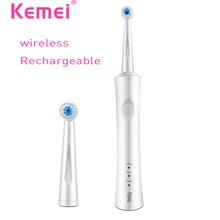 Home Appliances - Personal Care Appliances - KEMEI Rechargeable Ultrasonic Electric Toothbrush Reciprocating Rotation Oral Dental Smart b pro Electric Teethbrush BT-263