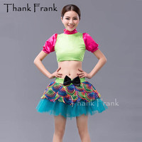 7417c97511 New 2 Piece Bow Girls Ballet Dress Women Sequin Dance Costumes C446