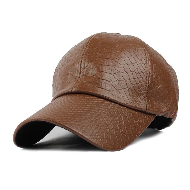 fa3d572b522 FLB  Cool!new fashion PU black Baseball Cap women Hats For men fall ...