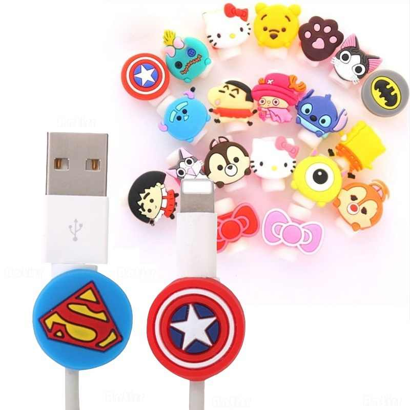 Leuke Cartoon Kabel Protector Cover Data Line Cord Bescherming Siliconen Usb Lader Headset Datalijn Protector Home Office Opslag