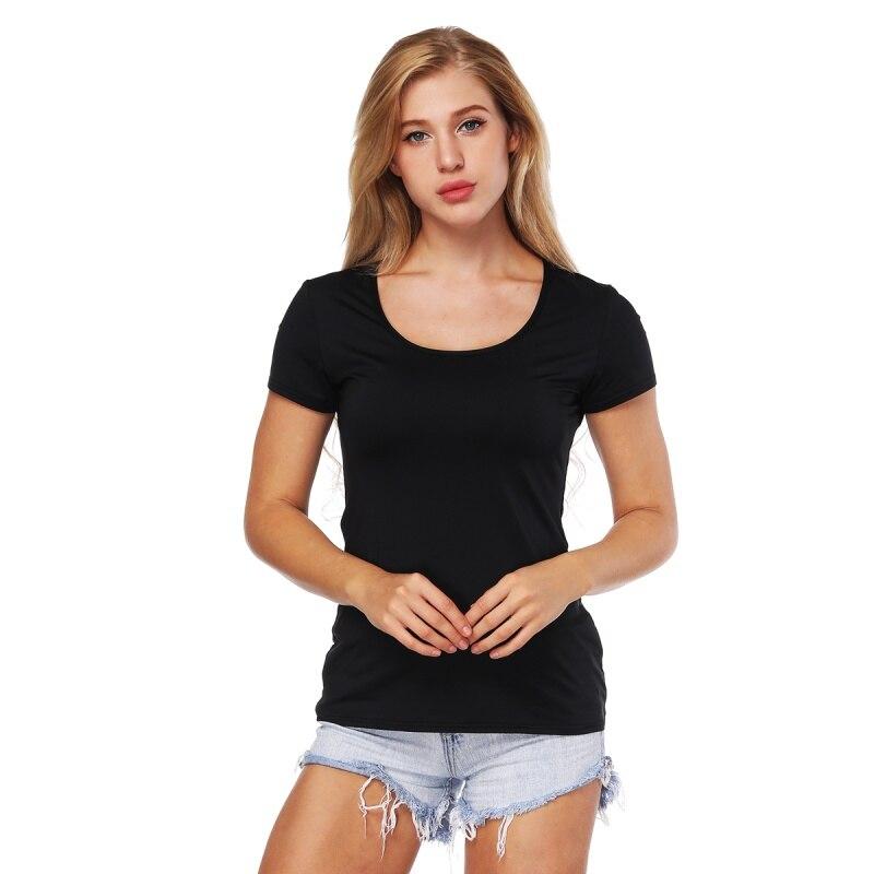 Hot Sale Black Basic Mesh Stitching T-shirt Women Round Neck Blue Star Printing Tee Shirt Sporting Fitness T Shirts Summer Women T8 Women's Clothing T-shirts