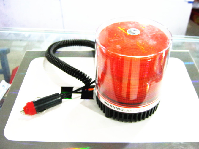12 Volt Magnetic Warning Strobe Light Beacon Orange / Amber, Xenon Recovery.