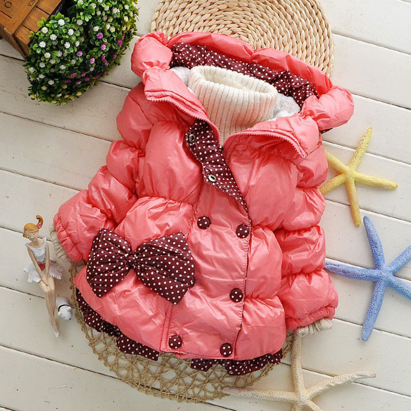 2017 Kids Baby Girl Winter Coat Jacket Children Outerwear Parka Hooded Jacket Kids Winter Jacket For