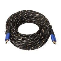ALLOYSEED Новый Плетеный hdmi кабель Позолоченный соединитель V1.4 AV 1080 P HD 3D для PS3 Xbox HDTV 10 м/15 м