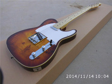 Wood color tl telecaster electric guitar Claret free shipping not case Custom OEM Guitar factory
