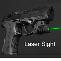 Pistol Mini Red / Green Laser Tactical Military Gear USB Rechargeable For Almost Glock Colt 1911 Taurus Handgun Compact Pistol