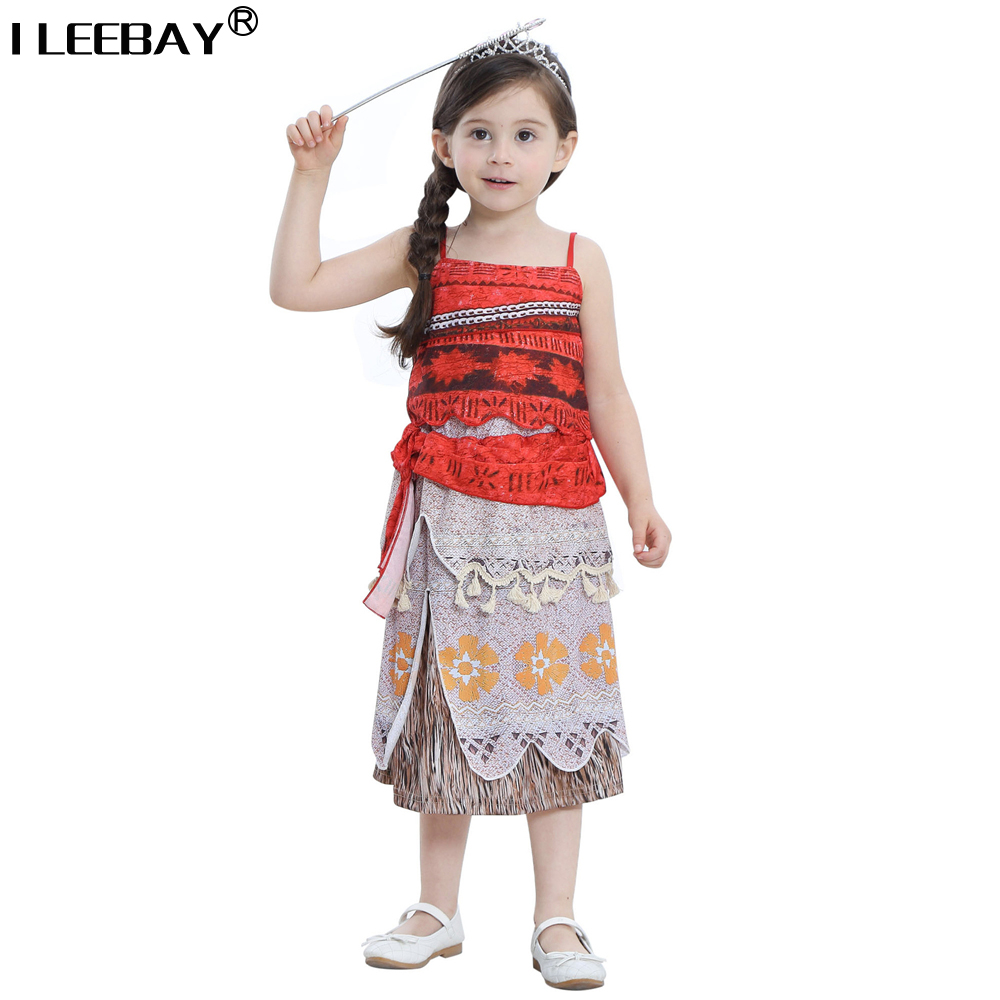 New Children Moana Princess Dress High Quatily Cartoon Cosplay Girl Dress Toddler Party Costume Baby Girl Clothes Kids Vestido moana baby girls dress cosplay party dresses elsa anna princess moana kids clothes vestidos toddler girl dress children clothing