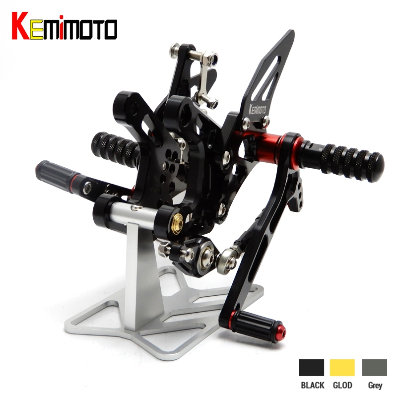 KEMiMOTO 2016 ZX-10R ZX10R ZX 10R CNC Adjustable Rear Set Footrest For Kawasaki ZX-10R ZX10R 2016 ZX 10R Rearsets 100% Brand New тюнинг фар мотоцикла kawasaki zx 6r zx 7r zx 9r zx 10r zx 12r led