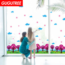 Decorate forest cloud leaf art wall sticker decoration Decals mural painting Removable Decor Wallpaper LF-1803