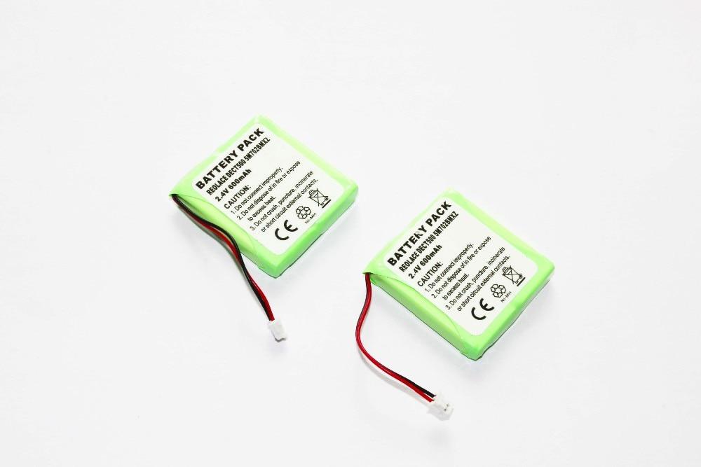 2X Replacement battery  for AUDIOLINE Slim DECT 500 DECT 502  503 504 580 BT Verve 410 5M702BMX GP0735 GP0848 335085 325085 355080 mp4 battery slim