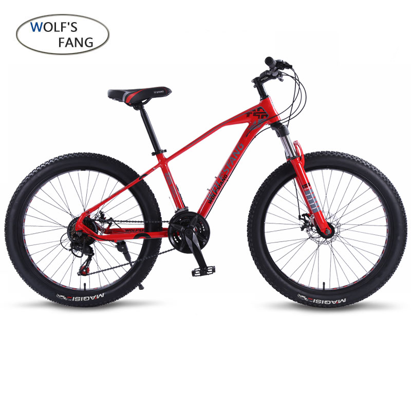 Wolf's Fang Bicycle Mountain Bike Road Fat Bikes 21 Speed 26*3.0 Aluminum Alloy Bicycle Man Fatbike Road Bike Free Shipping